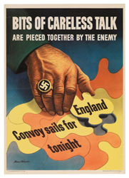 Bits of careless talk - II World War Poster