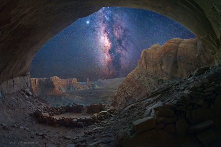 Milky Way from False Kiva cave by Wally Pacholka