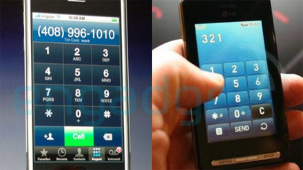 iPhone vs LG KE850
